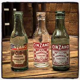 Cinzano, martini mini flasker