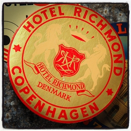 Hotel Richmond Copenhagen, kuffert mærkat