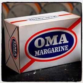 OMA margarine, emballage