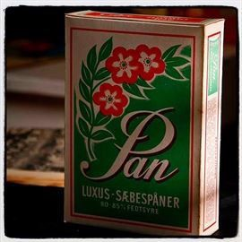 Pan luxux sæbespaaner, emballage
