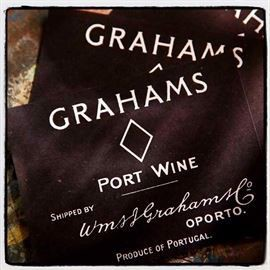 Grahams port wine, etiket