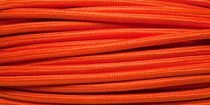 Orange rayon stofledning